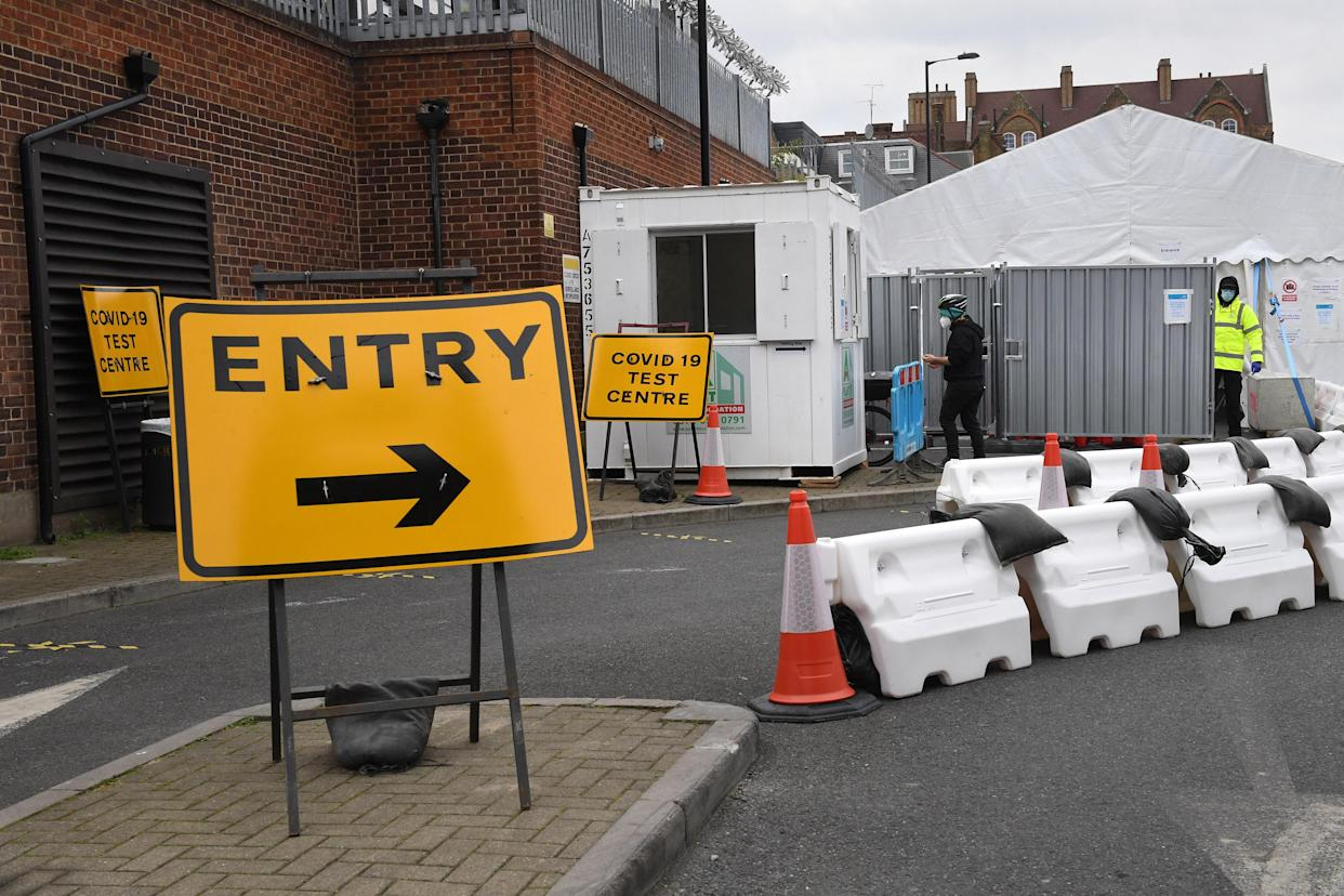 A Coronavirus testing centre in Dalston, east London. There were a further 6,042 lab-confirmed cases of coronavirus in the UK as of 9am on Saturday, taking the overall number to 429,277. A further 34 deaths were recorded.