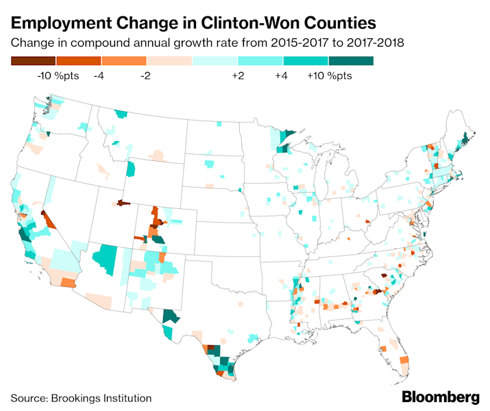 Jobs Are Booming in Trump Country, But Pay Lags