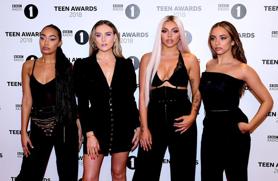 Little Mix's Leigh-Anne Pinnock, Perrie Edwards, Jesy Nelson and Jade Thirlwall (Credit: Ian West/PA)