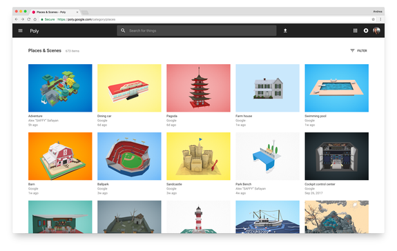 Google launches Poly, a home for the world's 3D objects built for creators