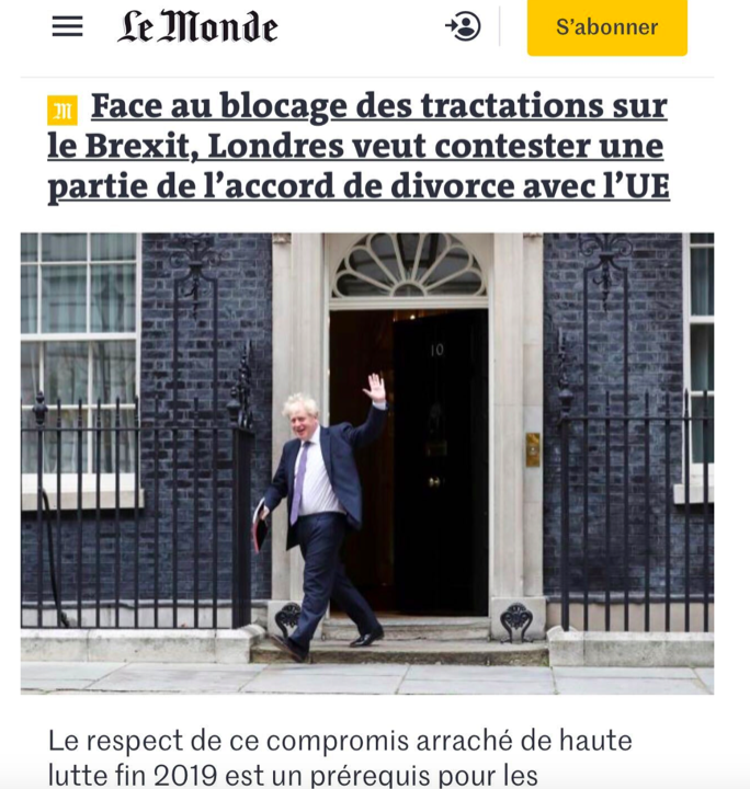French newspaper Le Monde hit out at the government's plans. (Le Monde)