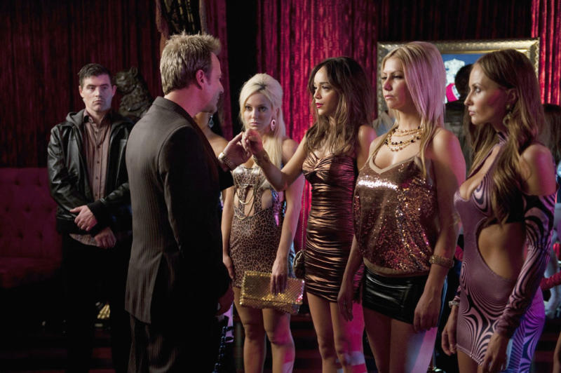 """Salvator Xuereb and Ashley Madekwe in """"Lineage,"""" the eighth episode of """"Revenge"""" Season 2."""