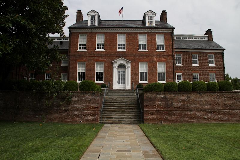 The Saudi women were trained and housed at Halcyon House, a mansion built in 1787 by the first US Navy secretary Benjamin Stoddert, with gardens designed by Pierre Charles L'Enfant -- the French American engineer who drew plans for Washington (AFP Photo/Olivia Hampton)