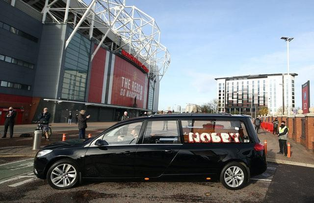 Nobby Stiles funeral and cremation took place in Manchester on November 12