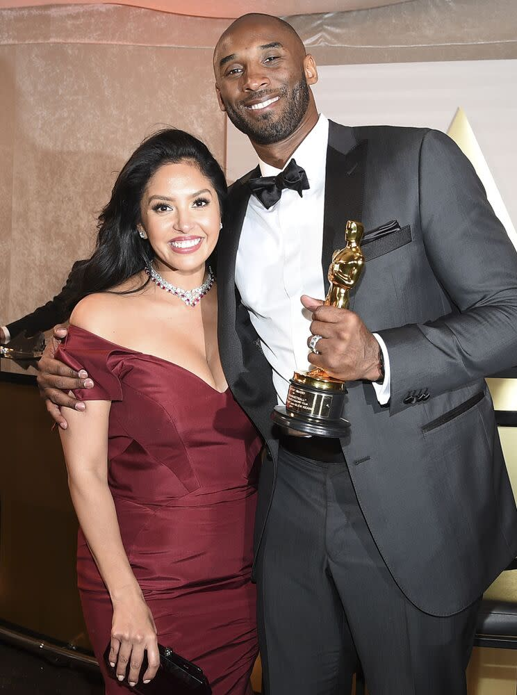 Vanessa Bryant with Kobe Bryant, March 2018 | Kevork Djansezian/Getty