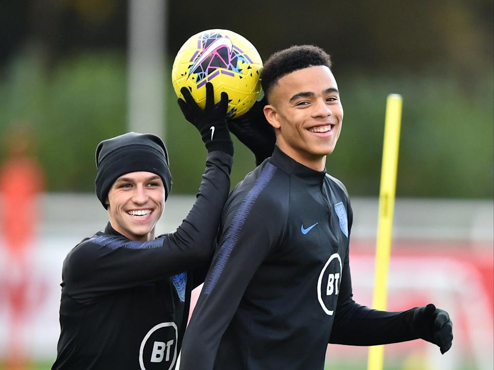 Phil Foden and Mason Greenwood (2019 Getty Images)