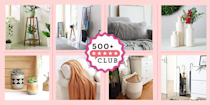 "<p><em>The 500+ Club helps take the guesswork out of shopping on Amazon. The product experts at Good Housekeeping have vetted the below products to ensure they're worth your money. Each one boasts at least 500 reviews and a minimum 4-star rating from real, verified reviewers, so you can trust that you're purchasing products that actually work, according to users and experts.</em></p><hr><p>If you've been rearranging your furniture and decor a ton this season, know that you're not alone. Some of us are simply<a href=""https://www.goodhousekeeping.com/holidays/christmas-ideas/how-to/g2203/christmas-decoration-ideas/"" rel=""nofollow noopener"" target=""_blank"" data-ylk=""slk:redecorating our homes for the holidays"" class=""link rapid-noclick-resp""> redecorating our homes for the holidays</a>, while others have taken a step further and are either <a href=""https://www.nytimes.com/2020/08/14/realestate/coronavirus-home-improvement.html"" rel=""nofollow noopener"" target=""_blank"" data-ylk=""slk:making major home renovations"" class=""link rapid-noclick-resp"">making major home renovations</a> or even moving. Whatever the case, it's a good time to switch things up and maybe add a new item or two to refresh your home.</p><p>We already know that <a href=""https://www.goodhousekeeping.com/home-products/g26327540/best-selling-amazon-products/"" rel=""nofollow noopener"" target=""_blank"" data-ylk=""slk:Amazon has some pretty amazing"" class=""link rapid-noclick-resp"">Amazon has some pretty amazing</a> (and quite affordable!) <a href=""https://www.goodhousekeeping.com/home-products/g34482905/best-furniture-on-amazon/"" rel=""nofollow noopener"" target=""_blank"" data-ylk=""slk:furniture finds"" class=""link rapid-noclick-resp"">furniture finds</a> along with smart <a href=""https://www.goodhousekeeping.com/home/organizing/g27075532/best-selling-organizing-products-amazon/"" rel=""nofollow noopener"" target=""_blank"" data-ylk=""slk:organizing products"" class=""link rapid-noclick-resp"">organizing products</a> that keep everything in place. But have we talked about the cute decor on Amazon that reviewers can't stop raving about? Plant stands, rugs, cozy throws and more are all on the site to help you transform your space into what you've always imagined it to be. See below for the best home decor items on Amazon, according to top ratings and reviews.</p>"