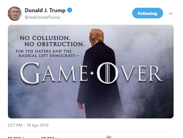 Game of Thrones network HBO responds to Trump using meme