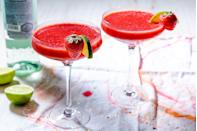 """<p>Two kinds of strawberries, one of a kind refreshment.</p><p>Get the recipe from <a href=""""https://www.delish.com/cooking/recipe-ideas/recipes/a4298/strawberry-daiquiri-frozen-drinks/"""" rel=""""nofollow noopener"""" target=""""_blank"""" data-ylk=""""slk:Delish"""" class=""""link rapid-noclick-resp"""">Delish</a>.</p>"""