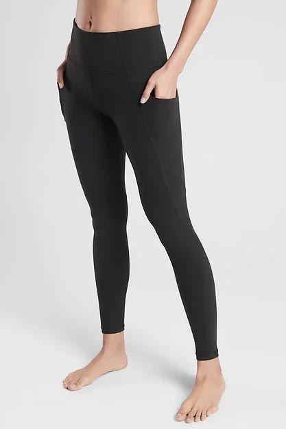 """<p><strong>Athleta</strong></p><p>athleta.gap.com</p><p><strong>$89.00</strong></p><p><a href=""""https://go.redirectingat.com?id=74968X1596630&url=https%3A%2F%2Fathleta.gap.com%2Fbrowse%2Fproduct.do%3Fpcid%3D1059481%26pid%3D198877&sref=https%3A%2F%2Fwww.goodhousekeeping.com%2Fclothing%2Fg32884290%2Fbest-leggings%2F"""" rel=""""nofollow noopener"""" target=""""_blank"""" data-ylk=""""slk:Shop Now"""" class=""""link rapid-noclick-resp"""">Shop Now</a></p><p>Many <a href=""""https://www.goodhousekeeping.com/health-products/g30109359/best-workout-leggings-with-pockets/"""" rel=""""nofollow noopener"""" target=""""_blank"""" data-ylk=""""slk:leggings with pockets"""" class=""""link rapid-noclick-resp"""">leggings with pockets</a> only have a small insert for a credit card or key, but <strong>these have deep pockets on the side that can fit your phone or wallet. </strong>Plus, the pockets lie flat against your legs so they aren't bulky like pockets on jeans. They're made with Athleta's signature Powervita fabric, which is buttery soft and slightly compressive, making this pair ideal for yoga and studio workouts.</p>"""