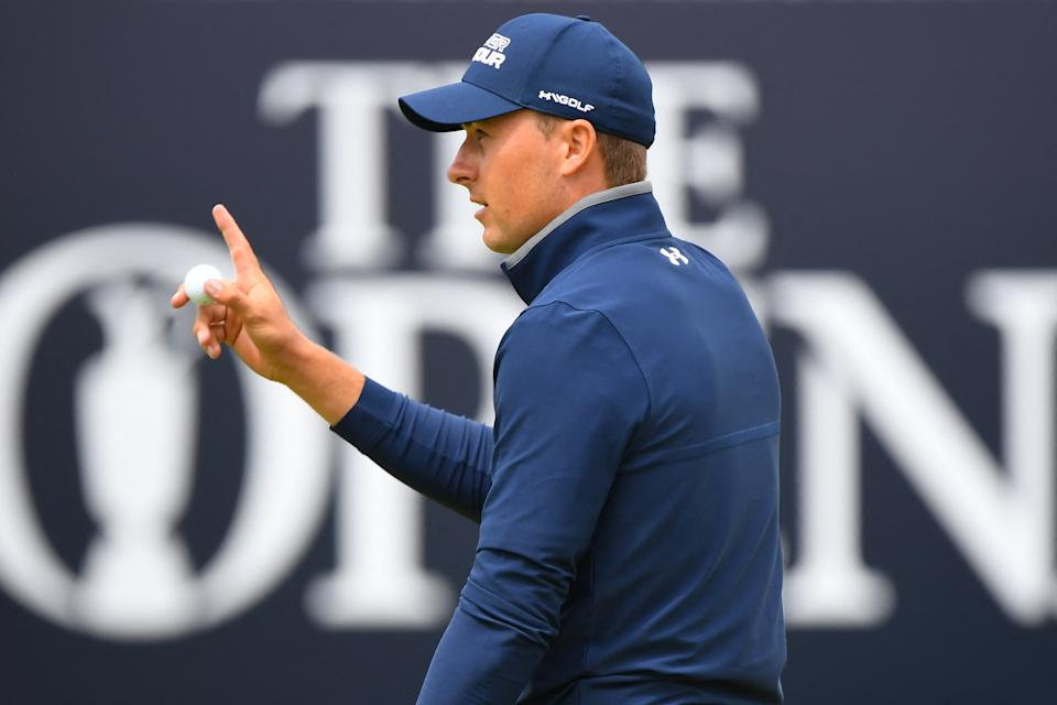 Jordan Spieth carded a strong round at Royal St. George's. (Andy Buchanan / Getty Images)