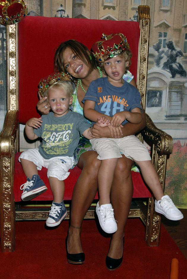 Jade with Freddie (left) and Bobby