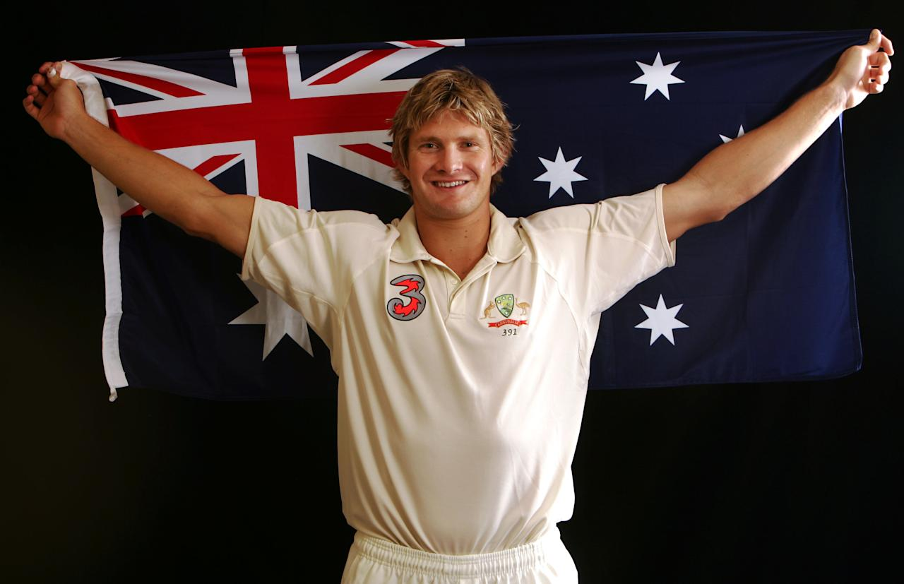 COOLUM BEACH, AUSTRALIA - AUGUST 29:  A portrait of Shane Watson of Australia taken during the Australian cricket team portrait session on August 29, 2006 at the Hyatt Regency at Coolum Beach, Australia. (Photo by Hamish Blair/Getty Images)