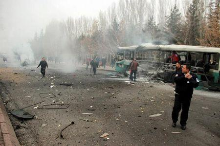 Auto bomb in Turkey's Kayseri city kills 13 soldiers