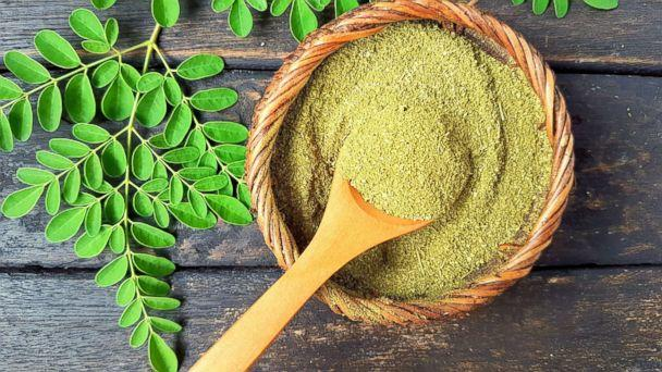 PHOTO: Moringa powder and fresh moringa leaves are pictured in an undated stock photo. (STOCK PHOTO/Getty Images)