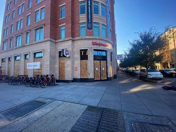 PHOTO: A boarded up Walgreens in Washington, D.C. ahead of the 2020 Presidential Election, Nov. 2, 2020. (Courtesy Katherine Stadler)