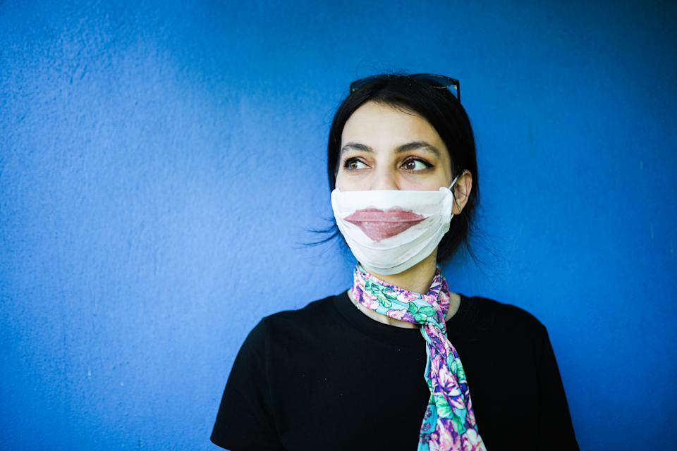 Personal Care at Home With Mask and Smiling Behind The Mask