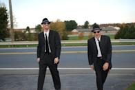 """<p>If you have filthy mouths and bad attitudes, then this is the costume for you. All you and a friend need to transform into the Blues Brothers are matching black fedoras, shades, and suits. Oh, and don't forget your harmonicas!</p><p><strong>See more at <a href=""""https://www.amylattacreations.com/2014/09/handmade-costume-blog-hop.html"""" rel=""""nofollow noopener"""" target=""""_blank"""" data-ylk=""""slk:Amy Latta Creations"""" class=""""link rapid-noclick-resp"""">Amy Latta Creations</a>. </strong></p><p><a class=""""link rapid-noclick-resp"""" href=""""https://go.redirectingat.com?id=74968X1596630&url=https%3A%2F%2Fwww.walmart.com%2Fip%2FSatin-Fedora-Adult%2F27713818&sref=https%3A%2F%2Fwww.thepioneerwoman.com%2Fholidays-celebrations%2Fg32645069%2F80s-halloween-costumes%2F"""" rel=""""nofollow noopener"""" target=""""_blank"""" data-ylk=""""slk:SHOP FEDORA HATS"""">SHOP FEDORA HATS</a><br></p>"""