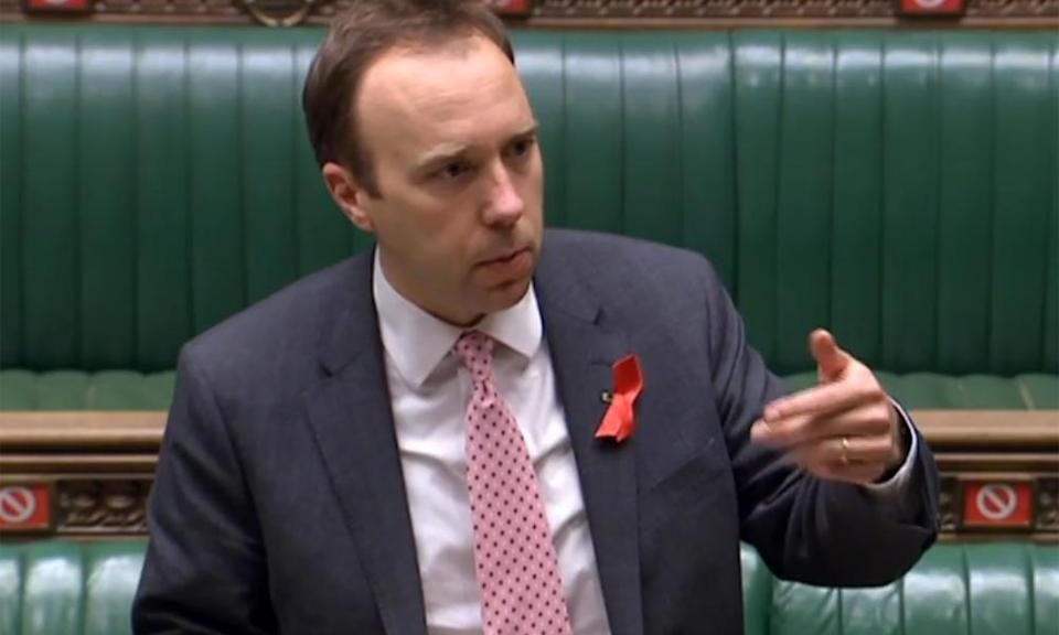 The health secretary who closed the debate in an emotional tone told MPs his step-grandfather died from 'this awful disease'.