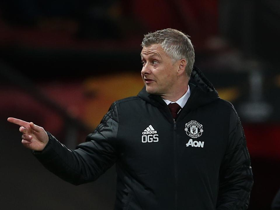 Manchester United coach Ole Gunnar Solskjaer (Manchester United via Getty Images)