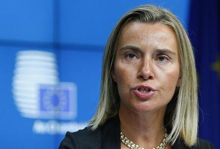 Newly elected European High Representative for Foreign Affairs Mogherini of Italy attends a news conference during an EU summit in Brussels