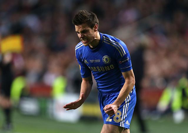 Chelsea's Cesar Azpilicueta rues a missed chance