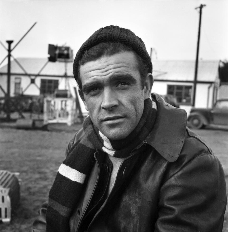 """Sean Connery on the set of the film """"Action of the Tiger"""". November 1956 A357 (Photo by WATFORD/Mirrorpix/Mirrorpix via Getty Images)"""