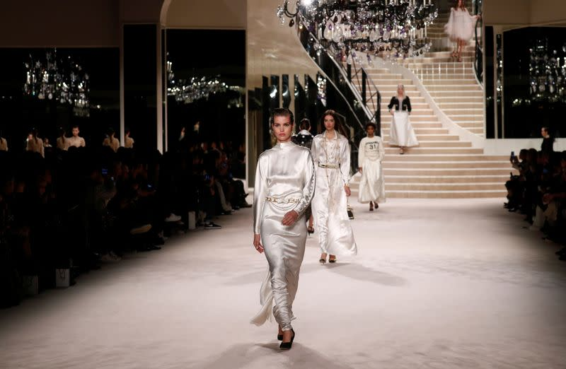 Birdcages and pearls galore at Chanel's craft-heavy fashion show