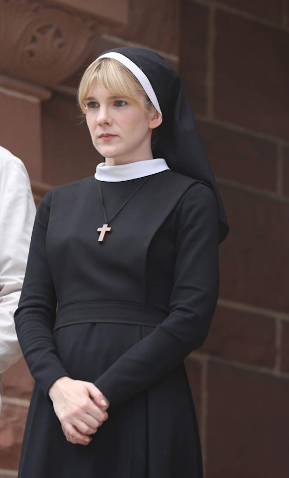 "Lily Rabe as Sister Eunice in ""Welcome to Briarcliff,"" the Season Two premiere episode of ""American Horror Story: Asylum"" on FX."