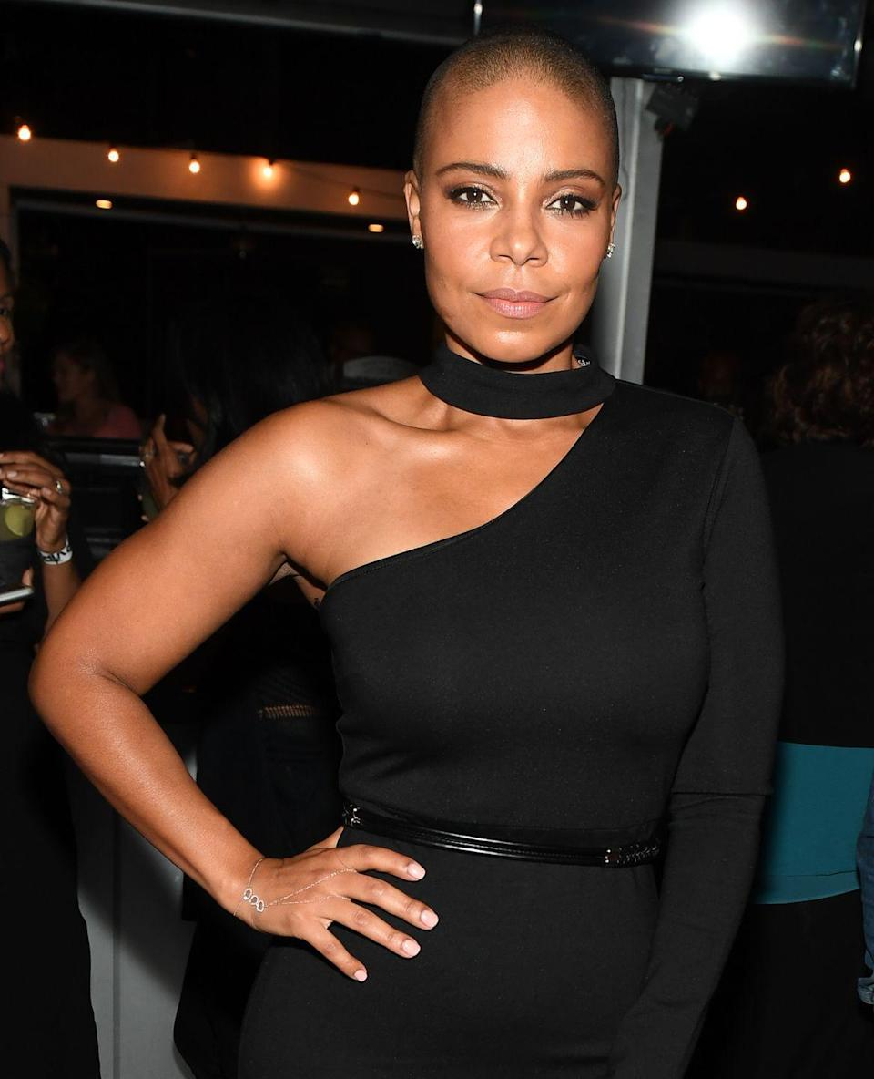 """<p>Sanaa Lathan decided to shave her head in real life (and on camera) for her film <em>Nappily Ever After</em>. For the actress, the choice was easy. """"The more I did research into the themes of the movie and the character, I was like 'I can't not do it',"""" Lathan said on <em><a href=""""https://www.youtube.com/watch?v=yDvI5ekzG7o"""" rel=""""nofollow noopener"""" target=""""_blank"""" data-ylk=""""slk:LIVE Kelly and Ryan"""" class=""""link rapid-noclick-resp"""">LIVE Kelly and Ryan</a></em>. </p>"""