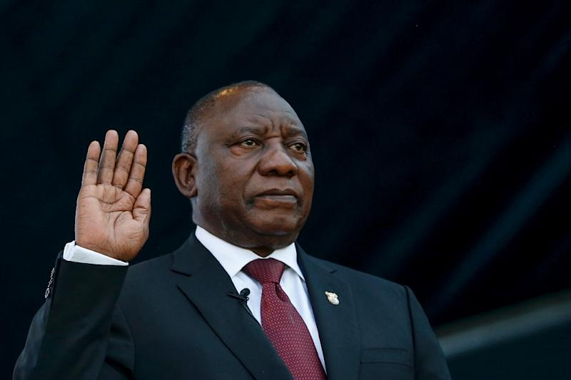 Cyril Ramaphosa was sworn in for a five-year term as president of South Africa (AFP Photo/SIPHIWE SIBEKO)