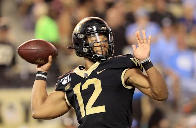 Wake Forest QB Jamie Newman has been a pleasant surprise so far this season. (Getty Images)
