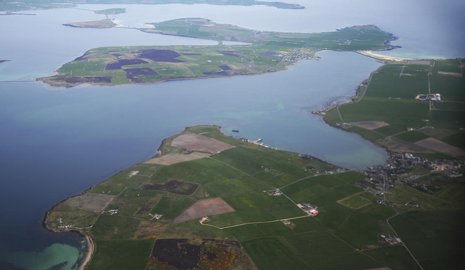 The Orkney Islands (pictured below, St Margaret's Hope and Burray) have a total population of 22,000 (Reuters).