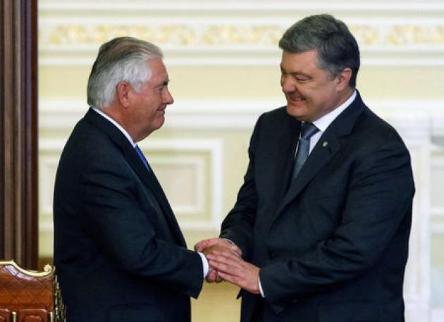 Tillerson says Russia must make first move in Ukraine peace process
