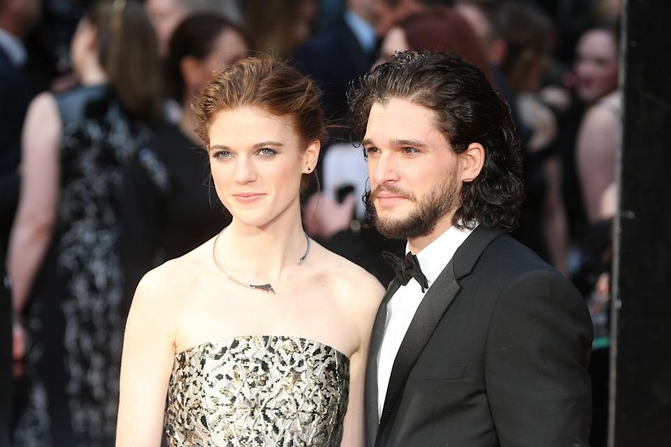 "Jon Snow didn't know much, but he did know that he loved Ygritte. Luckily, Kit Harington felt the same way in real life for his now wife, Rose Leslie. ""I met my wife in this show, so in that way, it gave me my future family and my life from here on in,"" he's <a href=""https://time.com/5399361/kit-harington-emmys-rose/"" rel=""nofollow noopener"" target=""_blank"" data-ylk=""slk:gushed"" class=""link rapid-noclick-resp"">gushed</a> about meeting Leslie on the set of <em>Game of Thrones</em>. ""That's the main thing it did for me."" <em>Aww.</em>"