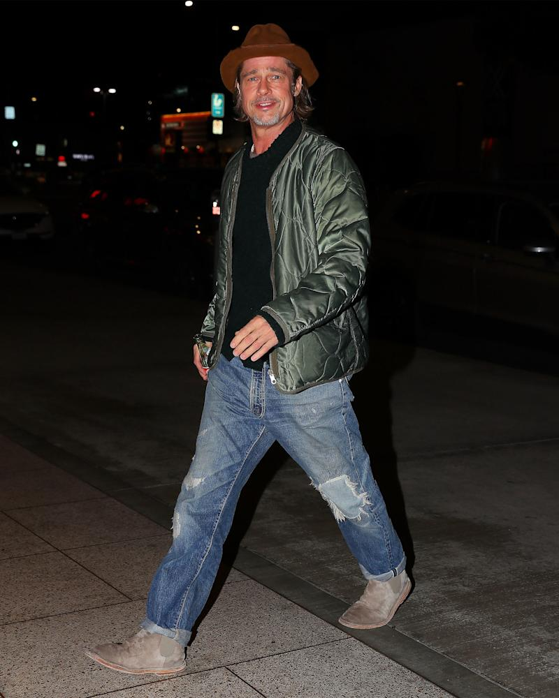 Brad Pitt Knows That Clothes Are Meant to Be Worn