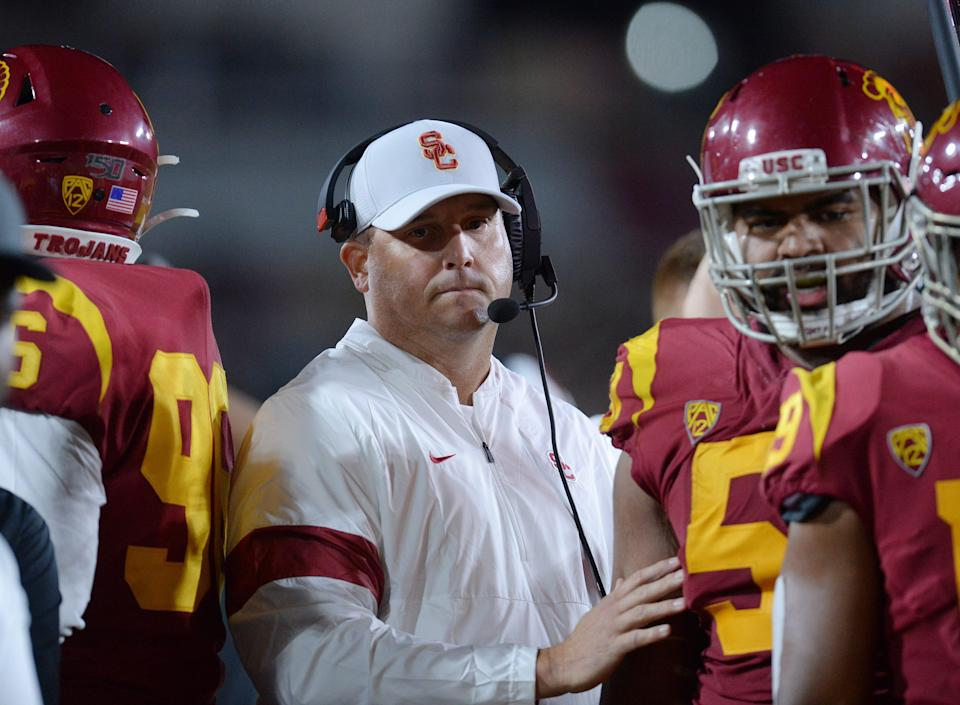 Southern California coach Clay Helton went 5-1 during the 2020 pandemic season, but can he repeat that winning percentage across a complete schedule?