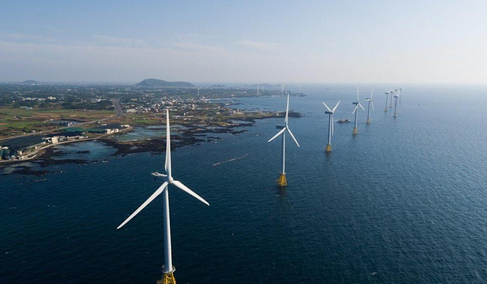 South Korea has plans for a US$32 billion floating wind farm. Photo: Bloomberg