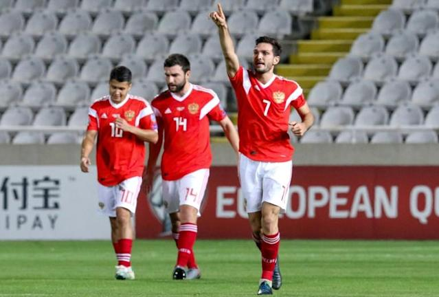 Magomed Ozdoev scored for the second time in four days as Russia qualified for Euro 2020 (AFP Photo/-)