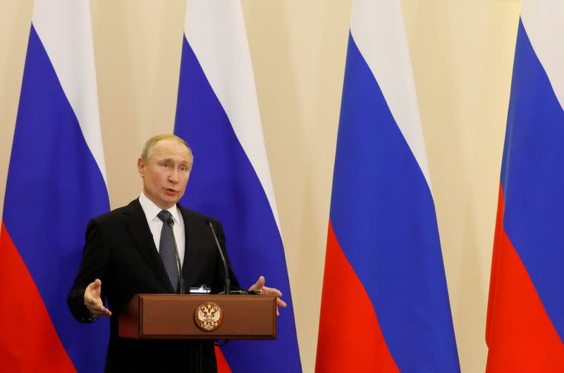 Putin says U.S. ramping up its military forces for space