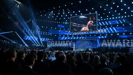 The Grammys began with a moving tribute to the late basketball star Kobe Bryant -- the gala is held at the Staples Center, where Bryant played for the Los Angeles Lakers