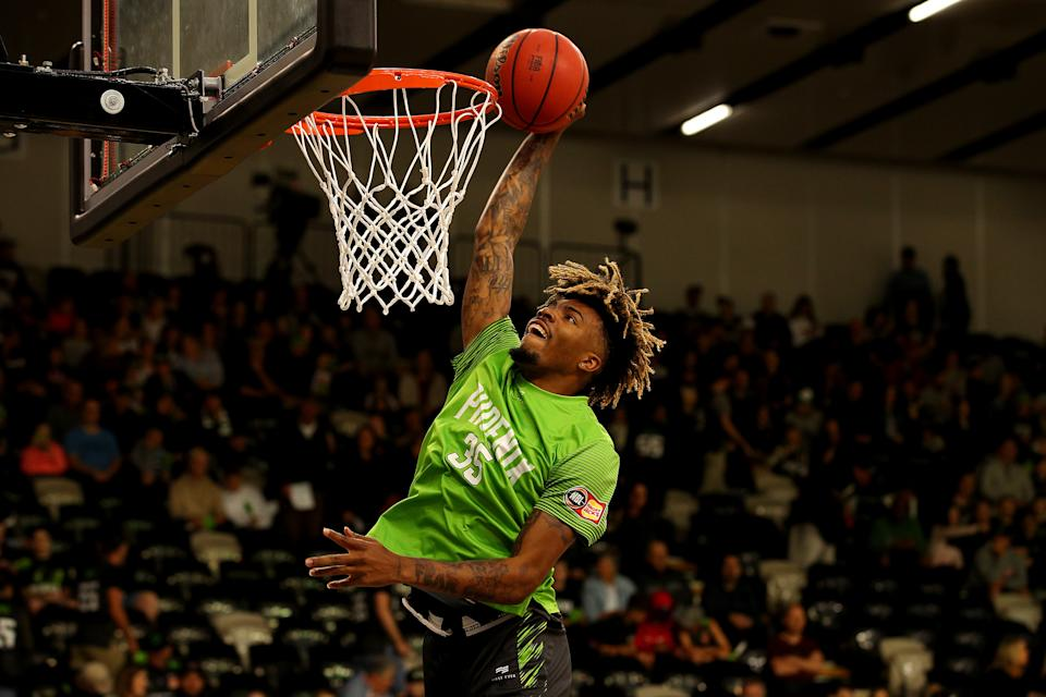 MELBOURNE, AUSTRALIA - JANUARY 05: Terry Armstrong of the Phoenix warms up prior to during the round 14 NBL match between the South East Melbourne Phoenix and the New Zealand Breakers at the State Basketball Centre on January 05, 2020 in Melbourne, Australia.