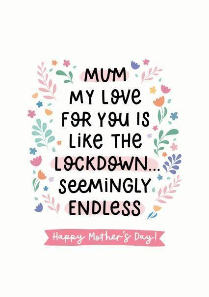 Lockdown Love Mother's Day Card Thortful (Photo: Thortful)