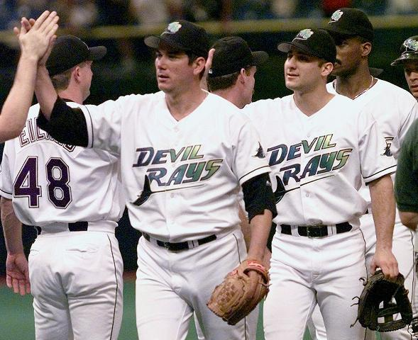 The Tampa Bay Rays will wear their original Devil Rays uniforms for select games to celebrate their 20th anniversary. (AP)