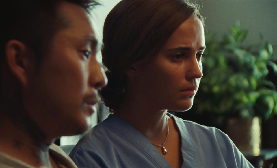 """""""Blue Bayou"""" (theaters): Played by Justin Chon (who also writes and directs, a Korean adoptee raised in a small Louisiana town in the Louisiana bayou and married to the love of his life (Alicia Vikander) has to confront his past when facing possible deportation."""