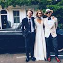 <p>Model Arizona Muse looked the epitome of elegance over the weekend, when she married her fiancé Boniface Verney-Carron in London. For her big day, the 28-year-old wore a spaghetti-strap Temperley London dress and coat in ivory.</p>