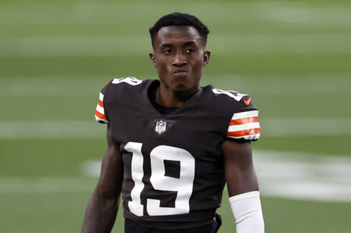 Browns lose returner Natson for season with knee injury