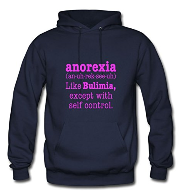 anorexia hoodie