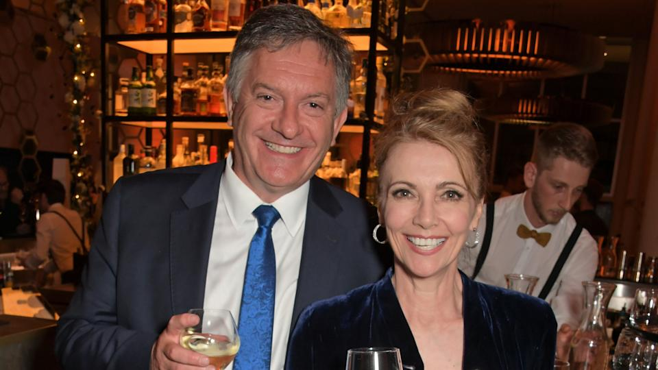 Simon McCoy and Emma Samms are engaged (David M Benett/Getty Images)