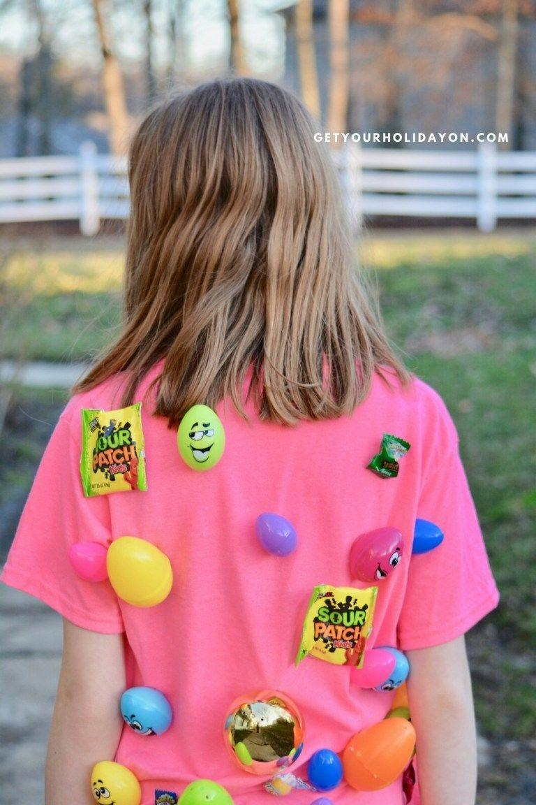 """<p>From toddlers to teens, your whole crew will get a kick out of hunting for eggs on-the-run (literally!). Designate a family member to <em>wear</em> the egg hunt goodies on a shirt. Then, the chase is on to see who can snatch them the fastest. </p><p><strong>Get the tutorial at <a href=""""https://www.getyourholidayon.com/easter-games-for-kids/"""" rel=""""nofollow noopener"""" target=""""_blank"""" data-ylk=""""slk:Get Your Holiday On"""" class=""""link rapid-noclick-resp"""">Get Your Holiday On</a>. </strong></p><p><strong><a class=""""link rapid-noclick-resp"""" href=""""https://www.amazon.com/TopElek-Temperature-Repairs-Festival-Decoration/dp/B07CNTFSVS/?tag=syn-yahoo-20&ascsubtag=%5Bartid%7C10050.g.4083%5Bsrc%7Cyahoo-us"""" rel=""""nofollow noopener"""" target=""""_blank"""" data-ylk=""""slk:SHOP HOT GLUE GUNS"""">SHOP HOT GLUE GUNS</a><br></strong></p>"""